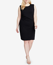 RACHEL Rachel Roy Trendy Plus Size Ruched Dress