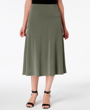 1930s Style Skirts Midi Skirts Tea Length Pleated
