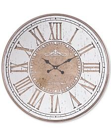Zuo Hora Mundial Antique Silver-Tone Clock