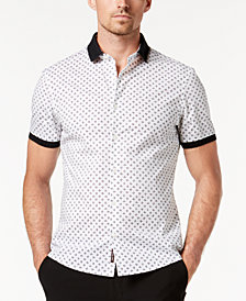 Michael Kors Men's Slim-Fit Nyle Printed Stretch Shirt