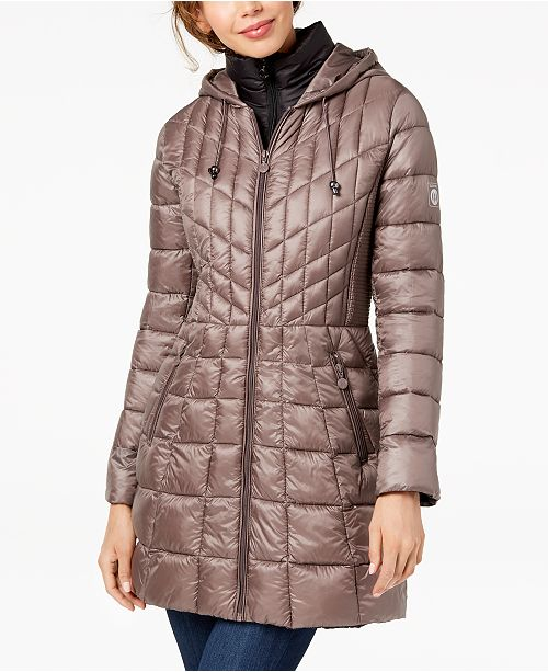 Bernardo Hooded Packable Puffer Coat - Coats - Women - Macy s faf88f1d3