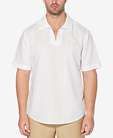 Cubavera Men's Johnny-Collar Linen Blend Shirt