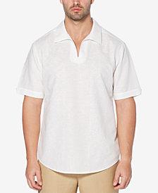 Cubavera Men's Johnny-Collar Linen Blend Shirt