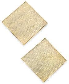 I.N.C Gold-Tone Square Stud Earrings, Created for Macy's
