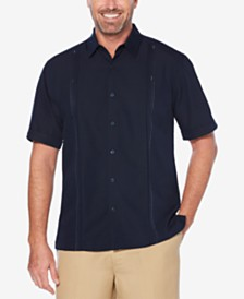 Cubavera Men's Double Tuck Short-Sleeve Shirt