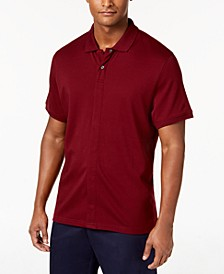 Men's Knit Solid Pima Cotton Polo with Magnetic Buttons