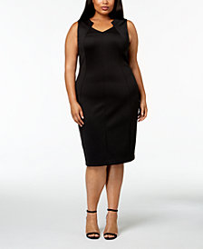 Calvin Klein Plus Size Sleeveless Sheath Dress