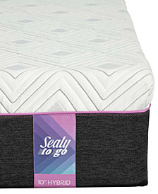 Sealy to Go 10'' Hybrid Mattress, Quick Ship, Mattress in a Box- Queen