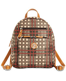 Giani Bernini Plaid Signature Backpack, Created for Macy's