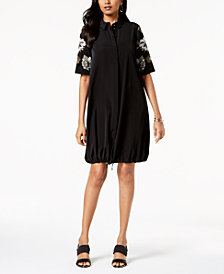 Alfani Petite Bungee-Hem Dress, Created for Macy's