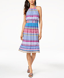 Trina Turk Smocked-Waist Brooke Halter Dress