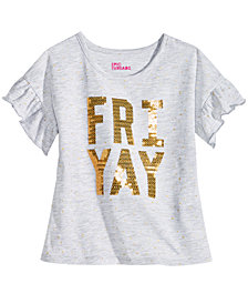 Epic Threads Little Girls Ruffle-Sleeve T-Shirt, Created for Macy's