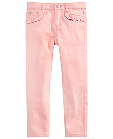 Epic Threads Little Girls Ruffle Pocket Jeans, Created for Macy's