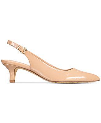 Bella Vita Scarlett Ii Kitten-Heel Slingback Pumps Women's Shoes