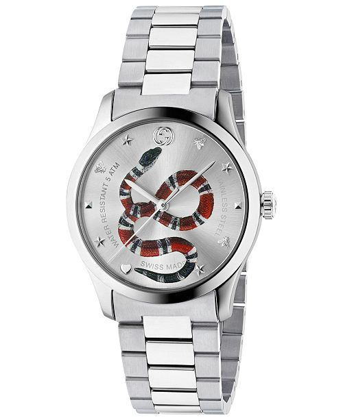 e416b4f6d7f Gucci Men s Swiss G-Timeless Stainless Steel Bracelet Watch 38mm ...