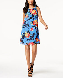 Robbie Bee Petite Floral Chiffon Dress