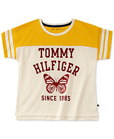 Tommy Hilfiger Big Girls Colorblocked Butterfly Cotton T-Shirt