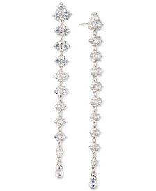 Carolee Silver-Tone Cubic Zirconia Linear Drop Earrings