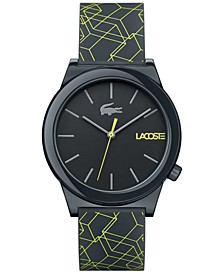 Men's Motion Gray Silicone Print Strap Watch 41mm