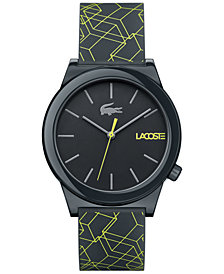 Lacoste Men's Motion Gray Silicone Print Strap Watch 41mm