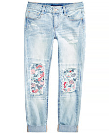 Imperial Star Big Girls Embroidered Roll-Cuff Jeans