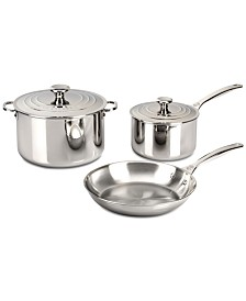 Le Creuset 5-Pc. Stainless Steel Cookware Set