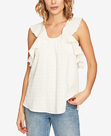 1.STATE Cotton Ruffled Top