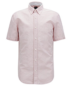 BOSS Men's Slim-Fit Short-Sleeve Shirt