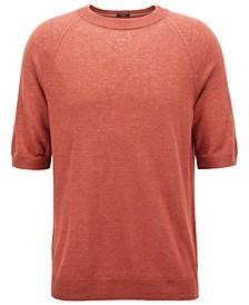 BOSS Men's Regular/Classic-Fit Short-Sleeve Linen Sweater