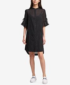 DKNY Ruffled-Sleeve Dress, Created for Macy's