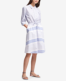 DKNY Cotton Striped Shirtdress, Created for Macy's