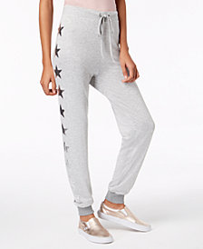 Material Girl Active Juniors' Star-Print Jogger Pants, Created for Macy's