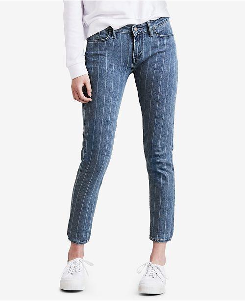 b6f82bce889a1 Levi s 535 trade  Striped Super Skinny Jeans  Levi s 535 trade  Striped  Super ...