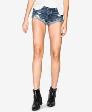 Silver Jeans Co. Breccan Ripped Cotton Cutoff Shorts 5741133