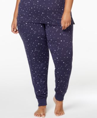 by Jennifer Moore Plus Size Printed Jogger Pajama Pants, Created for Macy's
