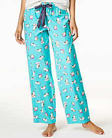 Jenni by Jennifer Moore Printed Cotton Pajama Pants, Created for Macy's