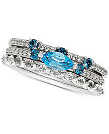 3-Pc. Set Topaz Stacking Rings (1-5/8 ct. t.w.) in Sterling Silver