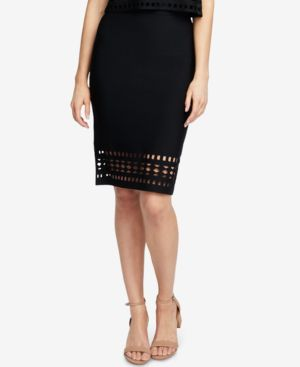 Cutout Sweater Pencil Skirt, Created For Macy'S, Black