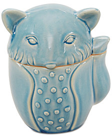 Madison Park Fox Ceramic Canister