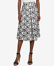 BCBGMAXAZRIA Floral Embroidered A-Line Skirt