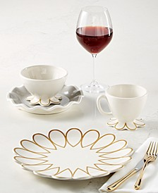 by Laura Johnson Gold Scallop Dinnerware Collection