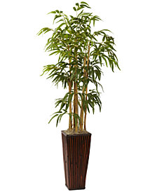 Nearly Natural 4' Artificial Plant in Decorative Planter