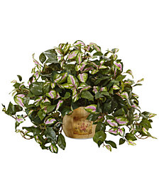 Nearly Natural Hoya Artificial Plant in Wood Pot