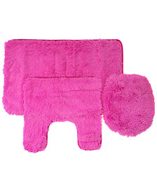 Popular Bath Fluff 3-Pc. Bath Rug & Lid Cover Set