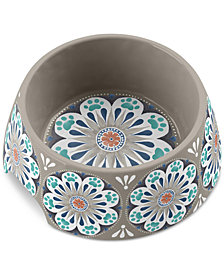 TarHong Carmel Medallion Gray Medium Pet Bowl