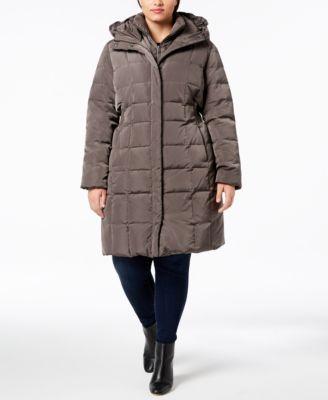 Signature Plus Size Layered Down Puffer Coat
