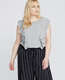 RACHEL Rachel Roy Trendy Plus Size Ruffled Top