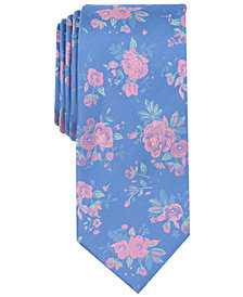Tallia Men's Claremont Floral Slim Silk Tie