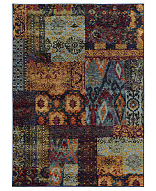 "Macy's Fine Rug Gallery Journey Patchwork Multi 2' 6"" x 12' Runner"