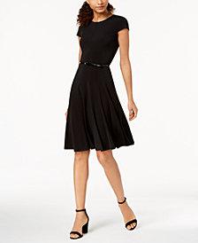 Jessica Howard Belted A-Line Dress